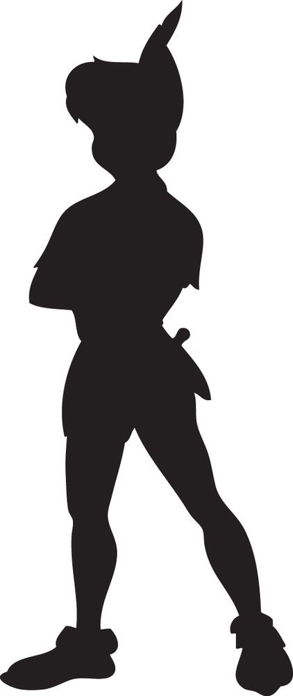 Peter Pan Silhouette. Contour cut Vinyl Decal Sticker. medium 15cmin height. These decals can stick to any clean dry surface. many other colours and sizes available upon request. | eBay!