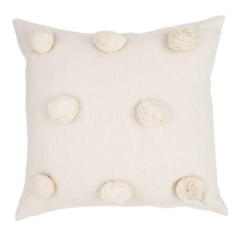 This 100% cotton Pom Pom Cushion is available in warm yet neutral shades and is an oh-so simple way to add character to any room of the house. Made from 100% co