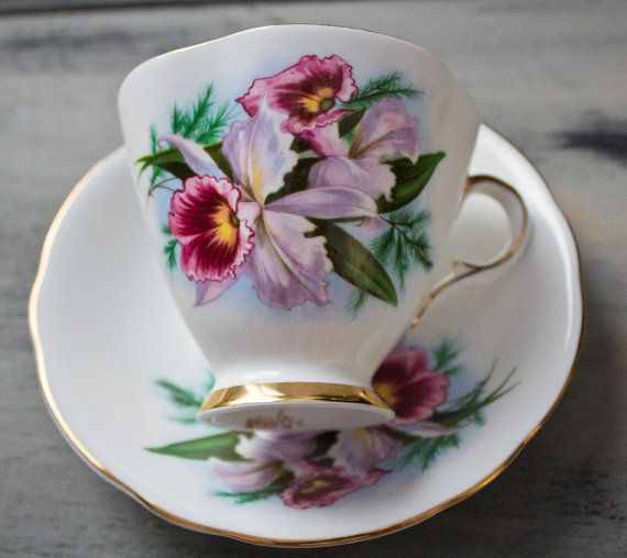 Windsor English Bone China Cup and Saucer by FragrantLavenderHome