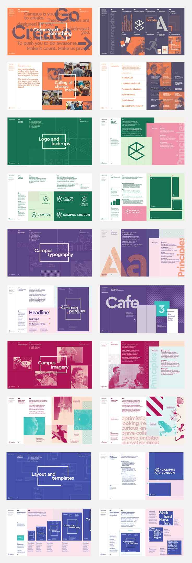 Logo, visual identity, brochure and website by MultiAdaptor for Google's co-working and event space concept Campus. Opinion by Richard Baird.