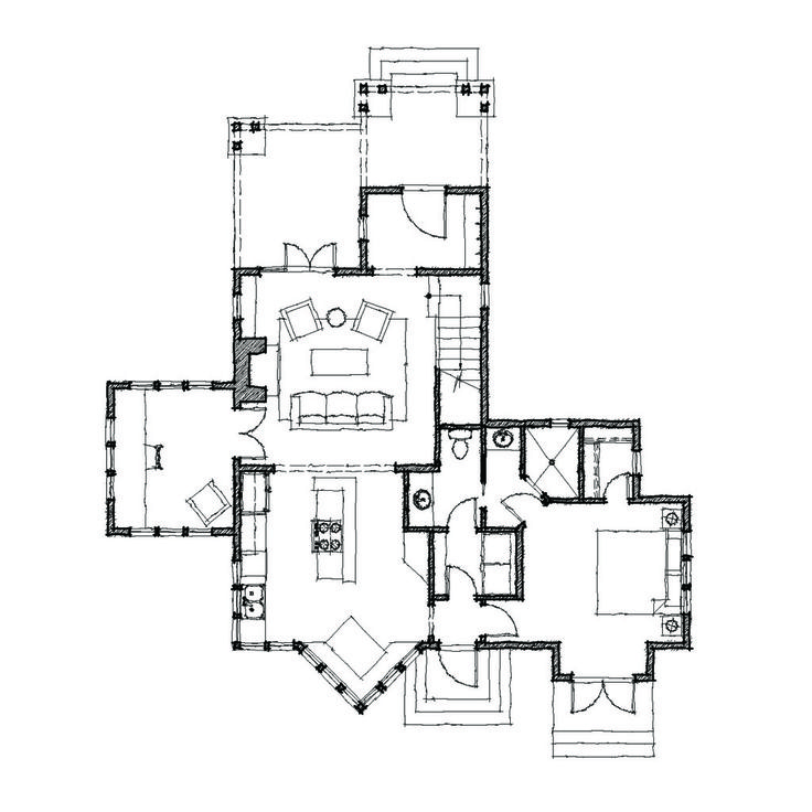 30 best craftsman bungalow floor plans images on pinterest for American craftsman house plans