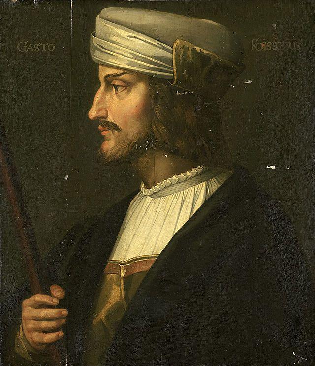 Гастон IV де Грайи или де Фуа (Gaston de Grailly(de Foix);26.02. 1423-25.07.1472,Ронсеваль)граф де Фуа и де Бигорр,виконт де Беарн с 1436,виконт де Кастельбон 1425-62,виконт де Нарбонн 1447-68,пэр Франции с 1458,сын Жана I де Грайи,гр.де Фуа,и Жанны д'Альбре,доч.Карла I д'Альбре,гасконск.военачальник на службе кор.Франции во вр. Столетней войны.