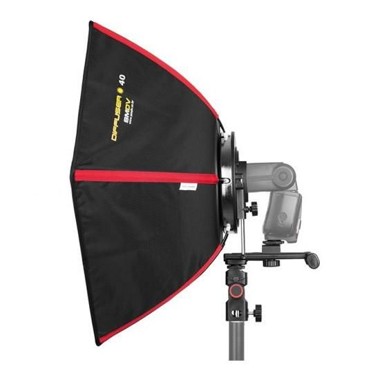 Buy SMDV Hexagonal Softbox Flash Diffuser - 40cm with Australian manufacturer warranty from CamBuy. Visit our Sydney camera shop in Alexandria or order online to take advantage of our constantly low prices, and friendly customer service.