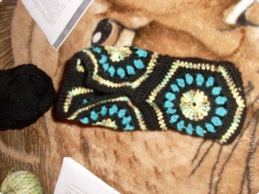 Мои тапочки-сапожки с квадратиков Вязание Вязание крючком