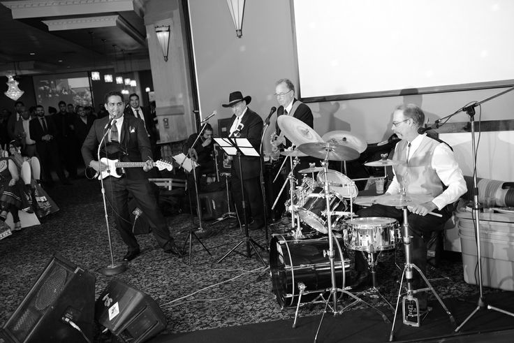 Playing at a Wedding with the Groom singing with us a song to his Bride.