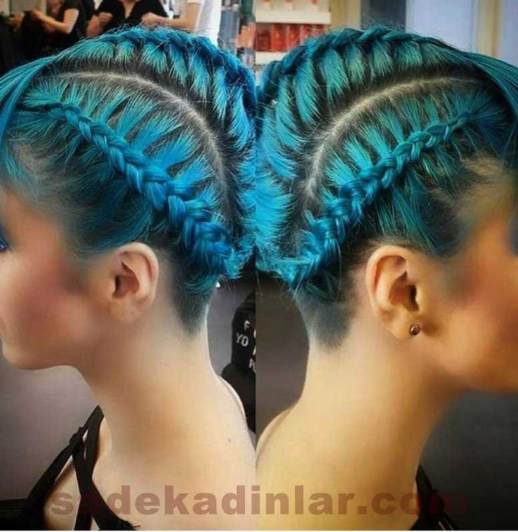 Hot: New Blue Braid Hairstyles - Mavi Örgü Saç Modelleri