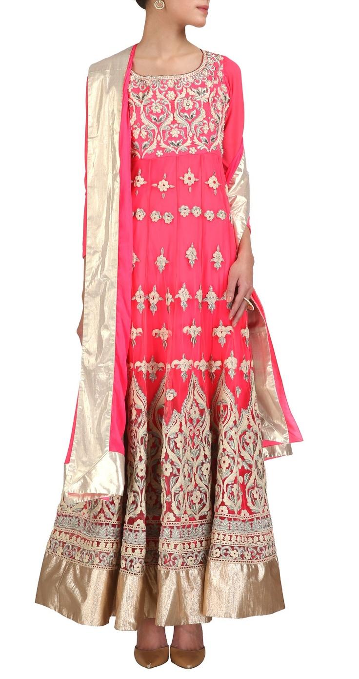 AHARIN INDIA Neon pink suit