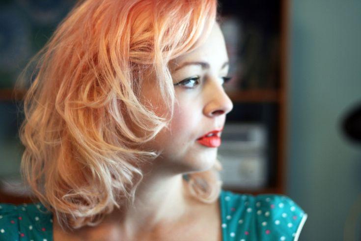 Peach Hair Color Idea 2016