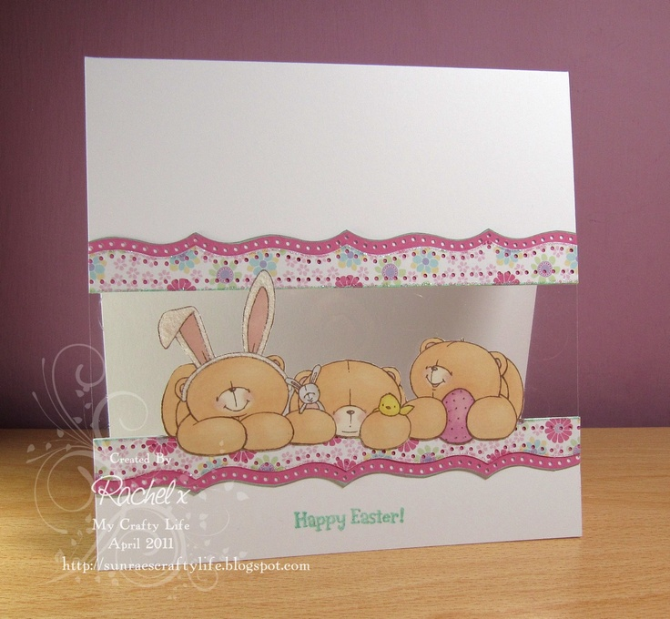 My Crafty Life: Easter, Forever Friends and... Acetate?! :S  Handmade Easter card, Forever Friends, Clean and Simple, CAS