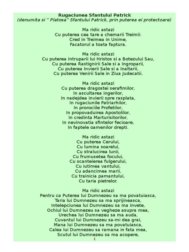rugaciunea sfantului Patrick, forma fara insemnari 1996, https://hunalove.blogspot.ro/2018/03/rugaciune-indragita-17-martie.html