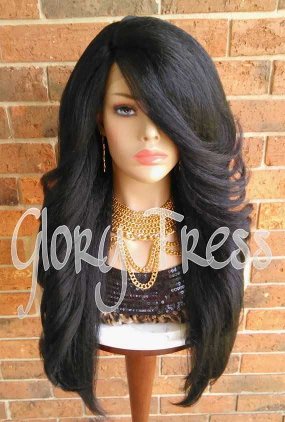 ON SALE // Voluminous Kinky Curly Lace Front Wig by GloryTress