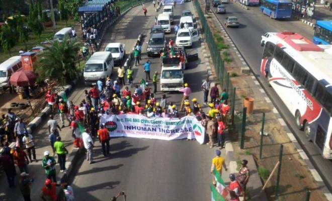 NLC Suspends Fuel Subsidy 'Strike' (Oh Yes, My Kehinde Has Travelled To London)
