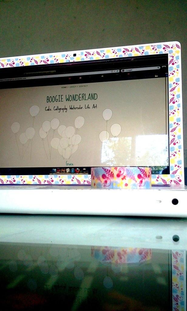 Washi Tape DIY Laptop Skin!! :)
