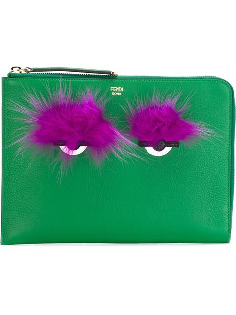 Comprar Fendi 'Bag Bugs' clutch  en Stefania Mode from the world's best independent boutiques at farfetch.com. Shop 300 boutiques at one address.