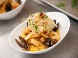 Picture of Paella Inspired Seafood Pasta with a Cognac Cream Sauce Recipe
