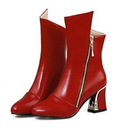 Botas rojas  #Botas #Calzado #Moda #Mujer #AmazonModa #Outfit #BotasMujer #BotinesMujer #Fashion #ModaotoñoInvierno #Red