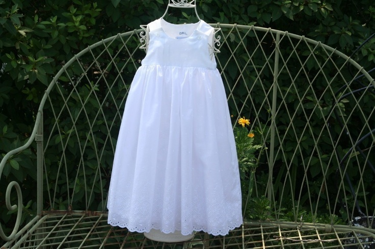Perfect little girl's lined white dress for all occasions........Available in sizes Newborn.to 3 mon.... 6 mon ...1T..2T..3T..4T,. $75.00, via Etsy.