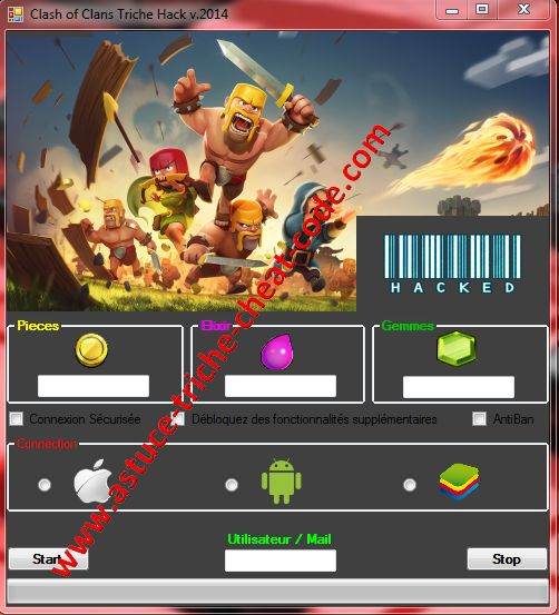 Clash of Clans Triche Code de Tricherie pour iOS – Android ou PC.[pieces, gemmes, elixir]
