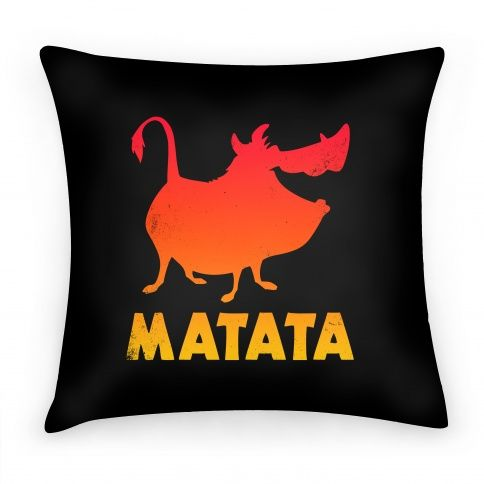 Matata Pillow #pillow #movie #lion #funny #noworries #timone #pumba #bffs #hakuna #matata