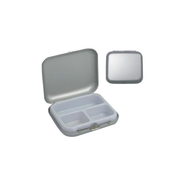 COD.BE042 Pastillero Aluminio. 3 Compartimientos.