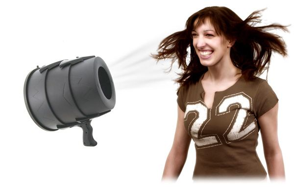 The Airzooka is the fun gun that blows a harmless ball of air towards any object! #Airzooka