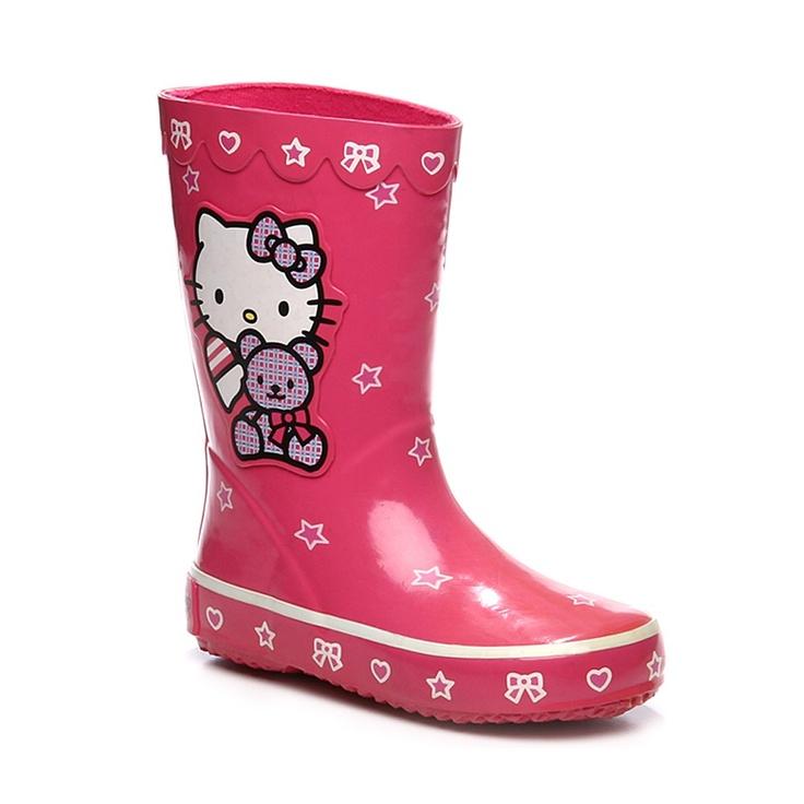 Bottes de pluie/Jardin roses pour Fille : Bottes de pluie/Jardin Hello Kitty - 14,99€