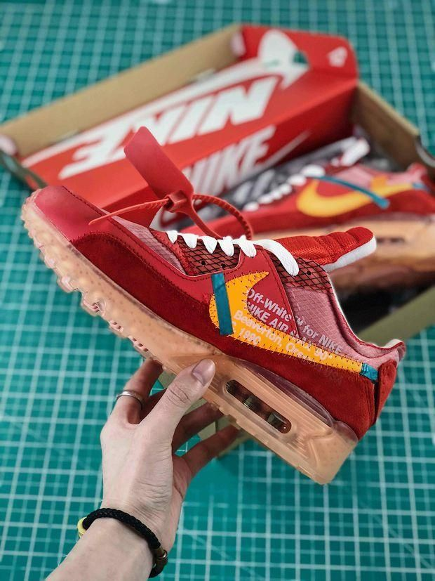 The Off-White x Nike Air Max 90 University Red is literally ...