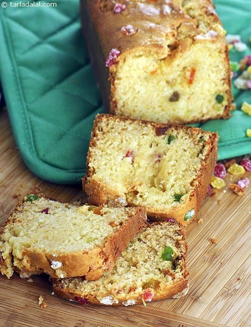 Tutti Frutti Cake By Tarla Dalal