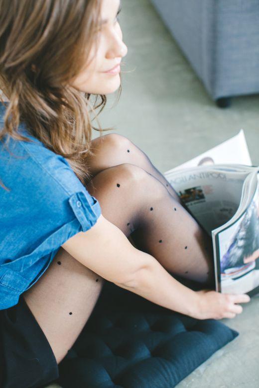 Polka dots tights