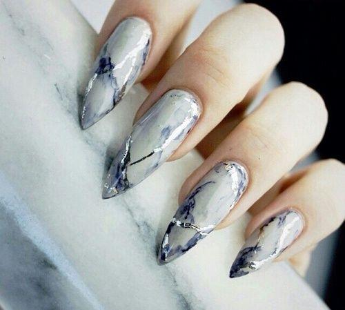 grafika nails, marble, and beauty