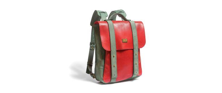 рюкзак 13 красно-зеленый