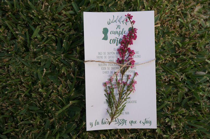 Invitación para un 70 cumpleaños