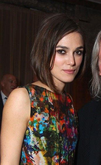 Classic Short Straight Unpolished Bob Hairstyle   Keira Knightley Hairstyle. 111 best Hair images on Pinterest   Hairstyles  Braids and Make up