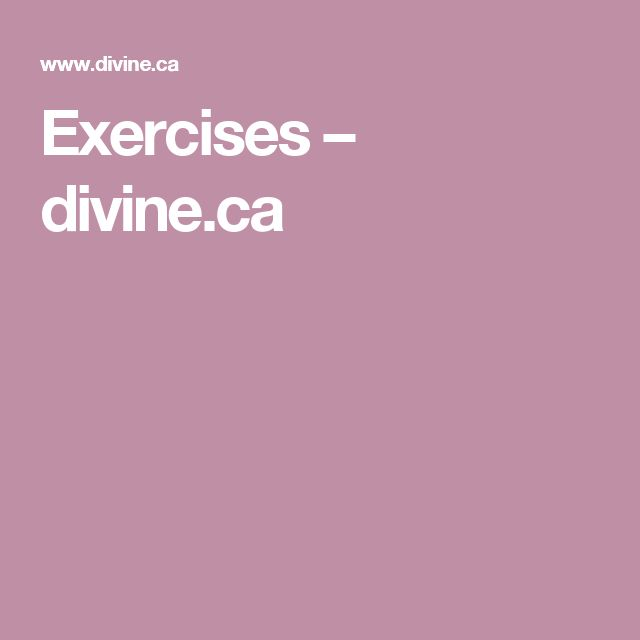 Exercises – divine.ca