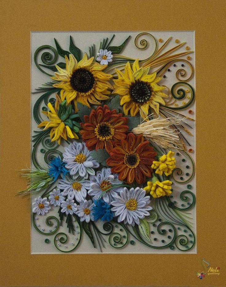 Neli Quilling Art: Quilling panel _ 8 - Summer ( 21,5 см ; 26,5 см )