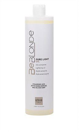 De nieuwe BeBlonde Pure Light Oil is speciaal samengesteld om natuurlijk blond haar zo delicaat mogelijk op te lichten. Voordelen: Cosmetisch oplichten tot 4 niveaus. Ideaal voor een natuurlijk sun-kissed effect. Perfect voor gebruik op de uitgroei van eerder opgelicht haar Eenvoudig te mengen met Cream Co-Activator.