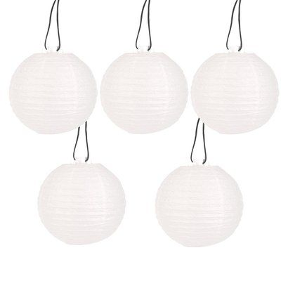 "Room Essentials® White Paper Lantern String Lights (8"")"