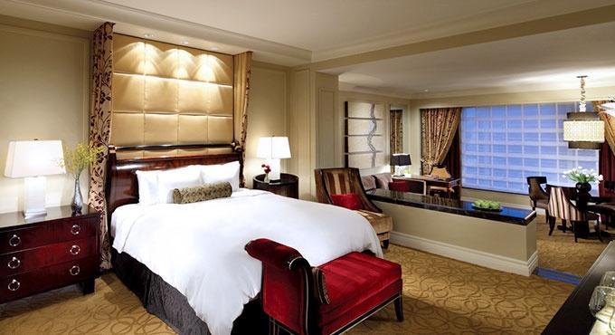 The Palazzo Resort Hotel Casino. Las Vegas, NV. Luxury Suites feature a sunken living room