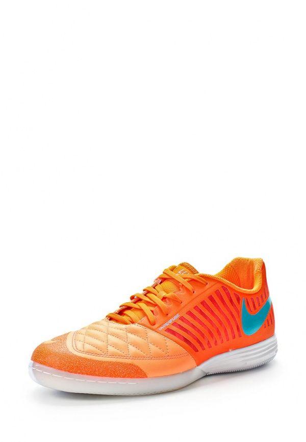 Бутсы зальные Nike / Найк мужские. Цвет: оранжевый. Материал: натуральная кожа, полимер, текстиль. Сезон: Весна-лето 2014. С бесплатной доставкой и примеркой на Lamoda. http://j.mp/1s0ItF8