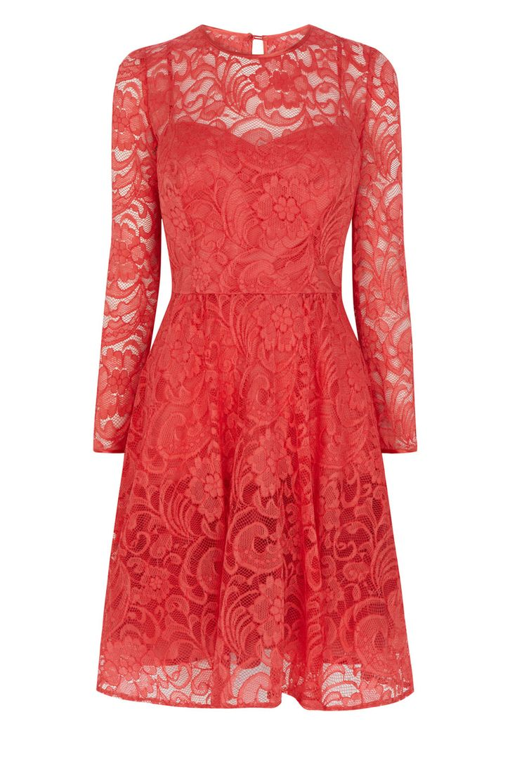 Effortless and easy to wear the Mallary Lace Dress has been exquisitely tailored to cinch your waist and flatter your curves for the ultimate feminine silhouette. This sleeve lace dress exudes an effortlessly chic aesthetic with its elegant round neck and subtly pleated skirt. Wear with a lustrous clutch to complete the look.