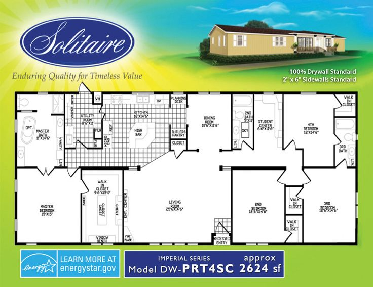 Spacious double wide mobile home floorplans in new mexico Double wide floor plans with basement