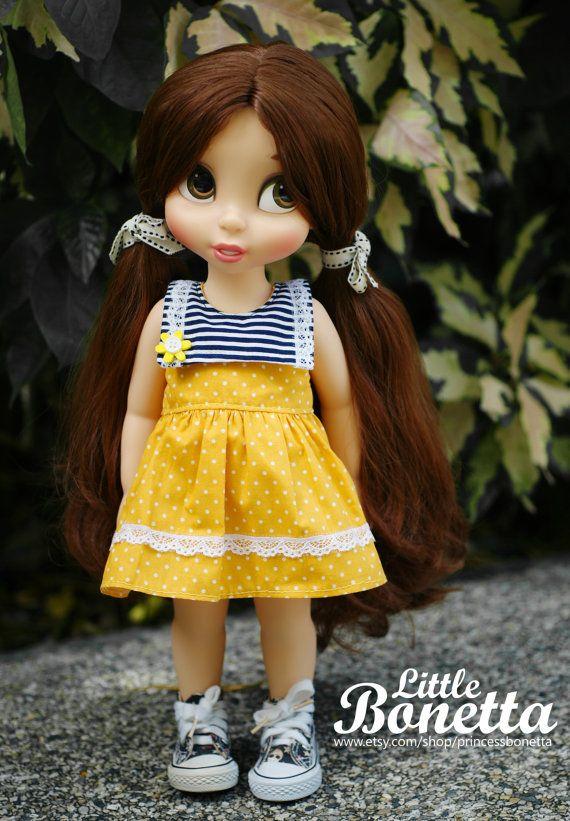 Sun Flower Dress for Disney Animators 16 by PrincessBonetta