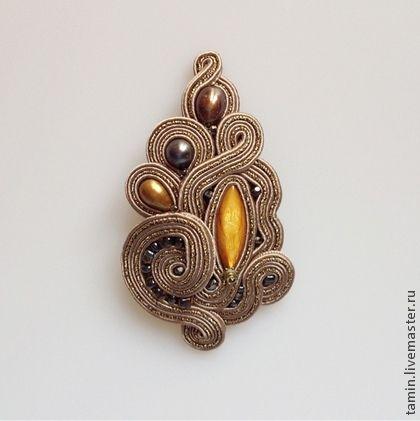 Vintage 14P18B - брошь,винтаж,жемчуг,перламутр,Сваровски,подарок,бронза