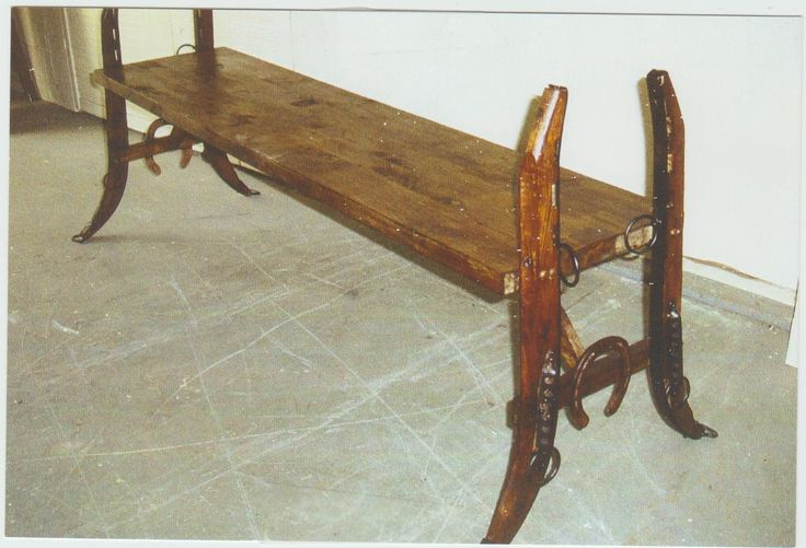 Horse Hames Bench Equestrian Decor Barn Wood Projects