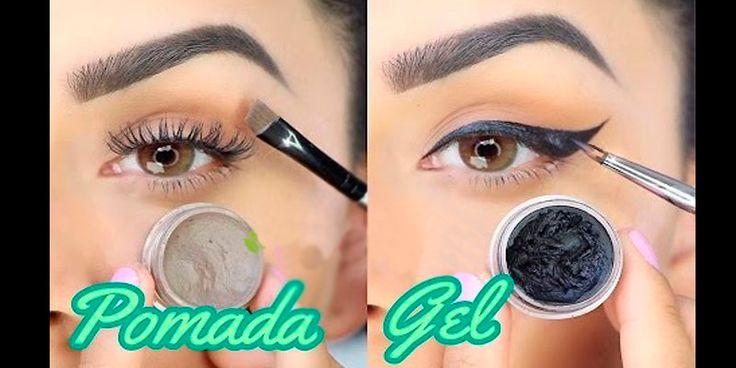COMO HACER POMADA PARA CEJAS Y GEL DELINEADOR CASERO!! - Tips De Maquillaje