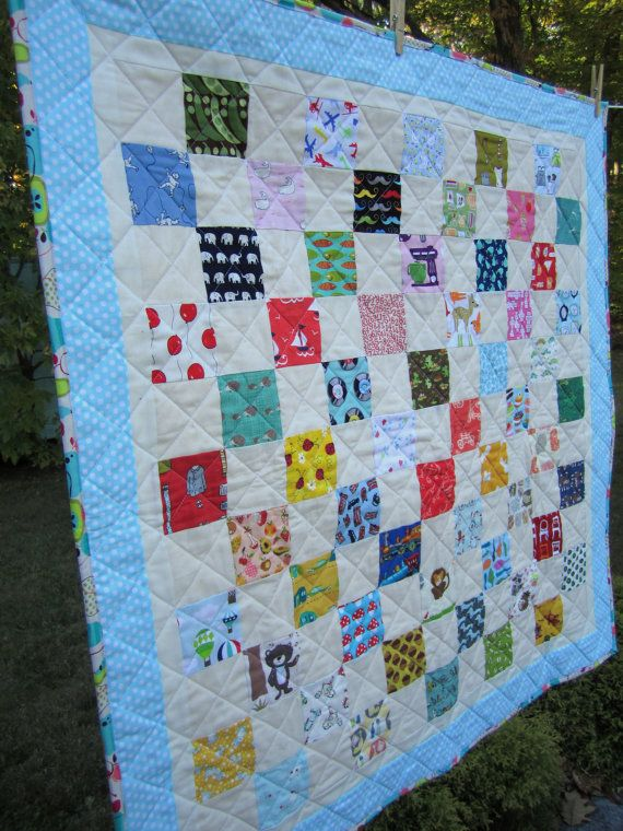 I-Spy Baby Quilt with Vintage-Inspired Fabric