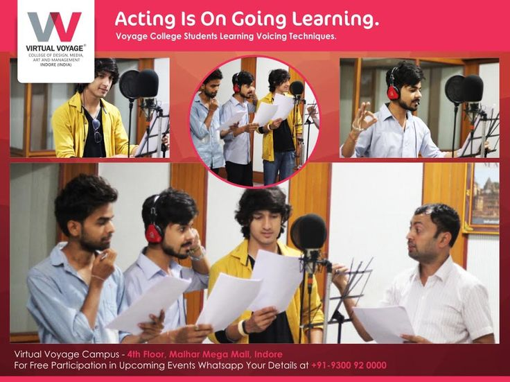 An Actor learns more while improvising than just doing what is scripted! By Enhancing the skills in voice modulation,dubbing and speeching, students of Virtual Voyage college advancing to the level next. They are enjoying what they are learning..What about You? Join Virtual Voyage College Today for Fun learning!