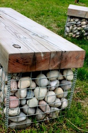 I'm going to make a gabion bench at The Ridge. I've collected heaps of rocks and just have to make the cage and find some timber for the top.