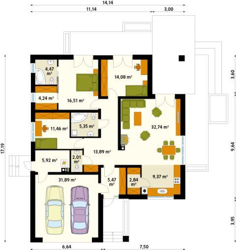 EKKO-Haus - Fertigteilhaus, Fertighaus, Massivhaus, Ausbauhaus, Blockhaus - Erika