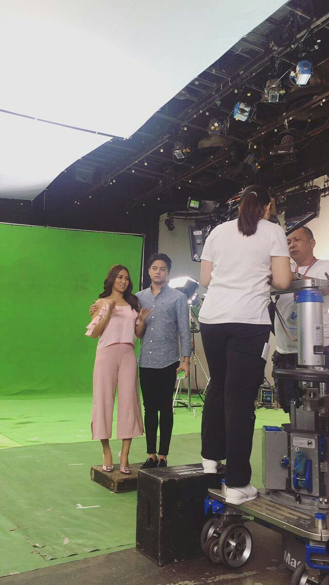 Here is the handsome Daniel Padilla and the pretty Kathryn Bernardo preparing for a taping of a TV commercial at the ABS-CBN Studio 3 at the ABS-CBN Compound. Indeed, KathNiel is my favourite Kapamilya love team. #KathrynBernardo #TeenQueen #DanielPadilla #KathNiel #KathNielBernaDilla